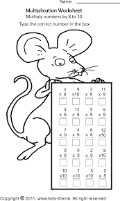 multiplication worksheets multiply numbers by 8 to 10