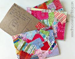 fabric post cards at skip to my lou craft camp fabric postcards