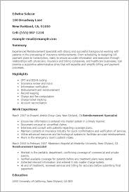 Ged Resume Professional Reimbursement Specialist Templates To Showcase Your