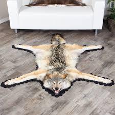 Reindeer Hide Rug Feet 3 Inches 191 Cm Timber Wolf Skin Rug T55368b