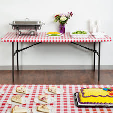 stay put table covers converting 37488 stay put 29 x 72 red gingham plastic table cover