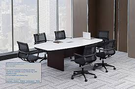 5 foot conference table 10 foot modern boat shaped conference table with grommets 5 laminate