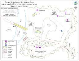 Florida Campgrounds Map by Florida River Island Northwest Florida Water Management District