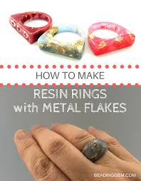 make rings images How to make resin rings with metal flakes the beading gem 39 s journal png