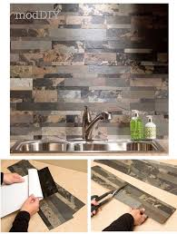Kitchen Peel And Stick Backsplash Self Adhesive Backsplash Kitchen Tile Panels Veneer