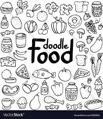 doodle vectors free food doodle royalty free vector image vectorstock