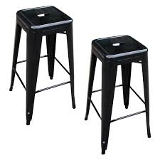 Buffalo Home Decor White Bar Stools Low Back Loversiq