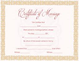 orange strings marriage certificate template