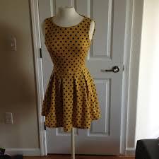 yellow mustard color sans souci dresses skirts polka dot dress is a yellow mustard