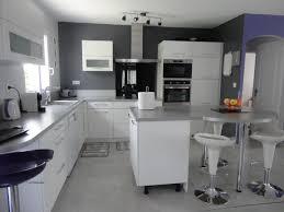 cuisine blanche et grise cuisine americaine grise cuisine en image