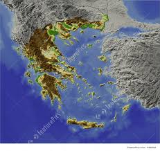 Map Of Greece by Signs And Info Relief Map Of Greece Stock Illustration I1629565