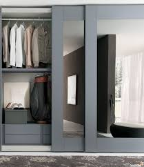 Interior Design Sliding Wardrobe Doors by Closet Door Interior White Wooden Sliding Closet Door On White