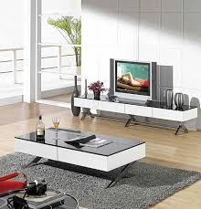 Living Room Tv Table Cool Interior Design To Modern Glossy White Tv Stand Cr059 Tv