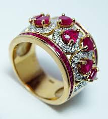 designer rings vintage designer jc rinker ruby ring 18k gold cigar band