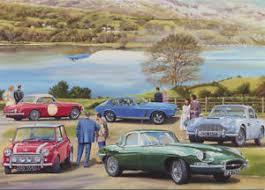 classic british car mg mini jensen aston martin jaguar birthday