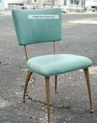 set of 4 mid century eames era aqua brass legs kitchen chairs