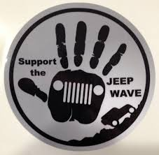 jeep wave sticker mirror support the jeep wave decal high quality vinyl approximately