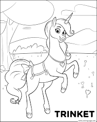 magical pet unicorn trinket for girls coloring pages printable