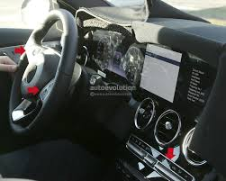 mercedes dashboard 2018 mercedes c class facelift interior spyshots mbworld org forums