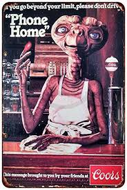 coors light sign amazon amazon com e t phone home coors light vintage reproduction metal