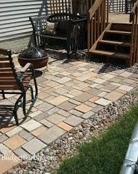 Patio Pavers Ta Budget Our Patio Using Quikrete Walk Maker Mold To Form