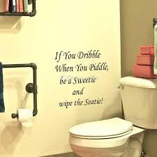 Bathroom Door Stickers Wall Stickers Funny Removable Entrance Sign Bathroom Toilet Door
