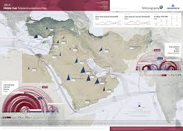 The Middle East Map by Map Gallery Middle East Telecommunications Map 2014