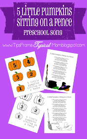 5 little pumpkins sitting on a fence preschool song download and