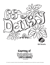 abc scout cookies coloring pages scout daisy coloring