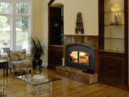 wood burning fireplace traditional closed hearth built in