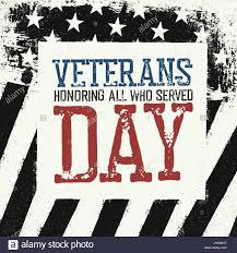 Black And White Us Flag Veterans Day Logo On Black And White American Flag Background