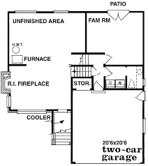 Fireplace Floor Plan Contemporary Style House Plan 3 Beds 1 5 Baths 1211 Sq Ft Plan