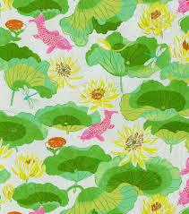 home decor print fabric waverly lotus lake blossom fabric
