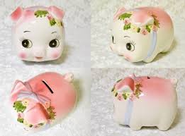 His And Her Piggy Bank Vintage Piggy Banks You U0027ll Wish You Had On Your Bookshelf