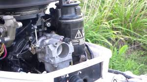 1988 johnson 25hp new carburetor installed youtube