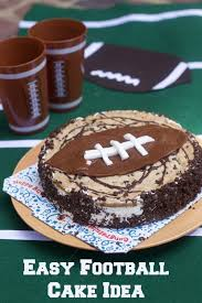 hosting a football party easy football cake for your game day