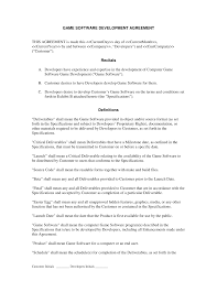 Sample Contract Letter Software Development Contract