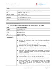 Sap Crm Resume Samples by Sample Resume For Freshers Sap Mm Templates