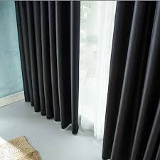 Thick Black Curtains Thick Black Insulation Blackout Curtains Shade Cloth Finished
