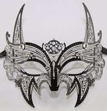 rhinestone masquerade masks black wolf laser cut metal feline masquerade mask with clear