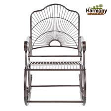 Wrought Iron Outdoor Table Chairs Rocker Wrought Iron Outdoor Patio Porch New Furniture Rocking