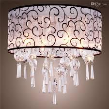 Discount Chandelier Lamp Shades Discount Round Shape Elegant Crystal Chandelier Stylish Pendant