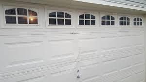 Garage Door Interior Panels Bent Garage Door Panel I16 For Your Charming Home Design Your Own