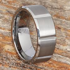 beveled ring bryson beveled tungsten wedding bands forever metals
