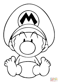 baby mario coloring free printable coloring pages