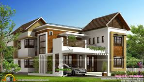 stylish trendy house plan kerala home design and floor plans