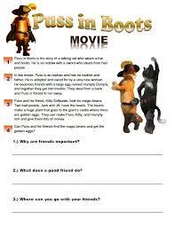 puss in boots movie worksheet esl movies pinterest movies