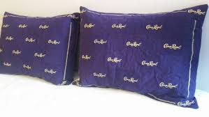 crown royal gift set crown royal pillow shams set of 2 made to order you choose