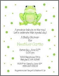 frog baby shower dots custom baby shower invitations