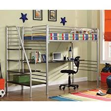 amazon com donco kids twin study loft with stairs kitchen u0026 dining